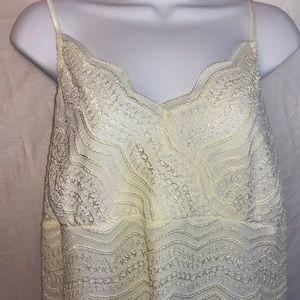 Lane Bryant cream colored lace camisole 14/16